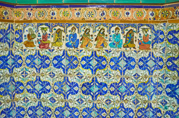 Details of decor in Ganjali Khan Bath, Kerman, Iran