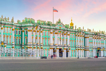 Winter Palace square in Saint Petersburg