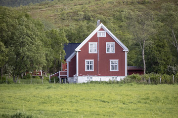 Old red farm house