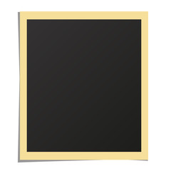 White paper photo frame isolated mockup. Realistic photograph with blank space for your image. Detailed vector eps10 illustration.