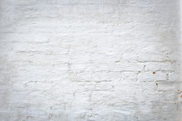 White old brick wall background.
