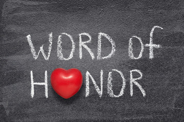 word of honor heart