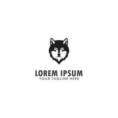 head wolf logo template