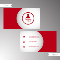 nice and beautiful business card design templates with creative design illustration.
