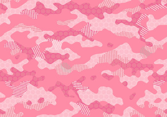 seamless pink camouflage pattern