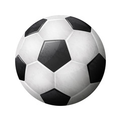Realistic soccer ball illustration on white background. EPS 10