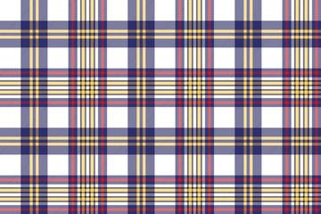 Seamless pattern white blue check plaid