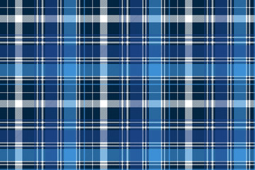 Blue abstract check textile seamless pattern