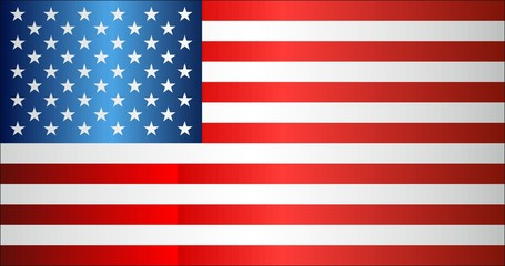 Grunge flag of USA - Illustration, 