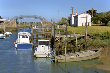 Canvas Prints Port Oyster port of Les Moutiers en Retz a commune in the Loire-Atlantique department in western France