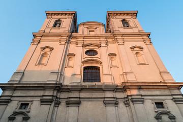 Printed kitchen splashbacks Monument Leszno - kościół pw. św. Mikołaja. Barokowa fasada.