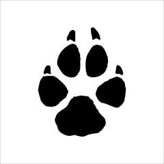 Coyote footprints icon. Vector Illustration