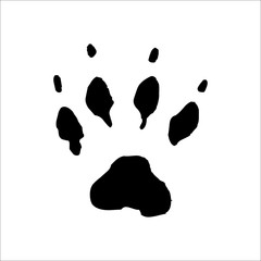 Dog footprints icon. Vector Illustration