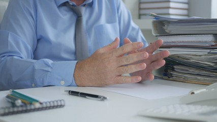 Businessman Image in Office  Room Gesturing and Explaining
