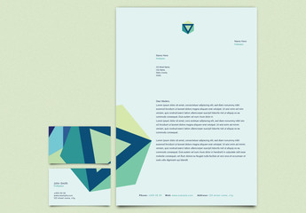 Blue and Green Personal Branding Kit