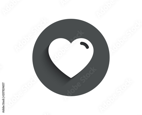 Heart Simple Icon Love Sign Valentines Day Sign Symbol Circle
