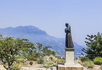 Statue of Father Pio. Ravello, Campania, Italy