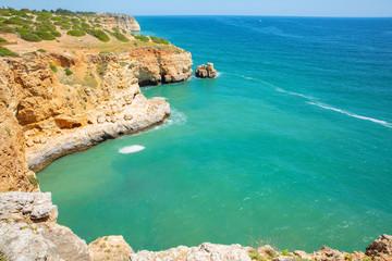 Scenic Atlantic Coast in Algarve, Portugal