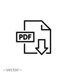 pdf download icon vector