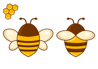 Bee set. Vector illustration