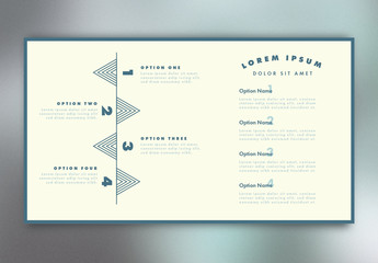 Cream and Blue Infographic Layout