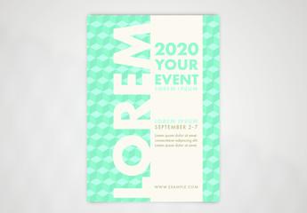 Blue Geometric Poster Layout