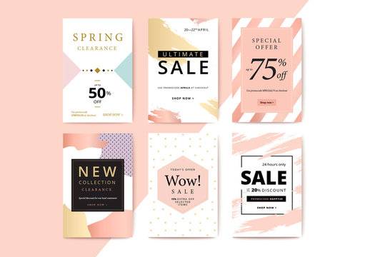 Pastel Mobile Banner Layouts