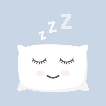 sleeping white pillow