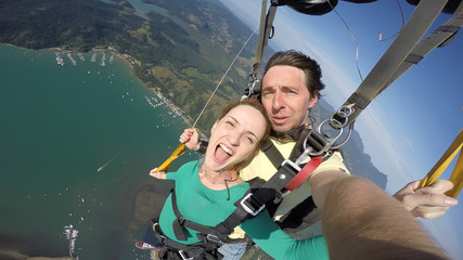 Sky diving tandem self portrait