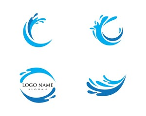 Water Wave spash symbol and icon Logo Template