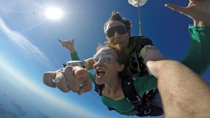 Sky diving tandem self portrait