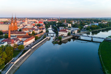 Aerial view on Opole