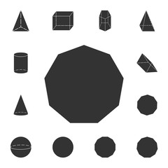 decagon... icon. Detailed set of geometric figure. Premium graphic design. One of the collection icons for websites, web design, mobile app