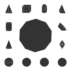 decagon icon. Detailed set of geometric figure. Premium graphic design. One of the collection icons for websites, web design, mobile app