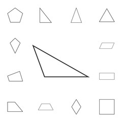 obtuse triangle outline icon. Detailed set of geometric figure. Premium graphic design. One of the collection icons for websites, web design, mobile app