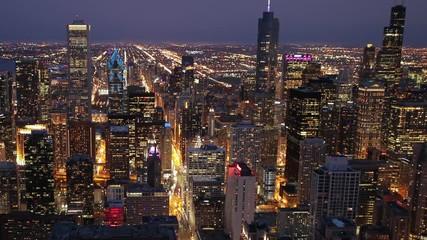 Fototapete - Chicago downtown skyline