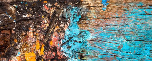 Textura de madeira com tinta