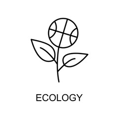 ecology outline icon. Element of enviroment protection icon with name for mobile concept and web apps. Thin line ecology icon can be used for web and mobile