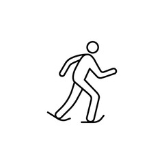 skater outline icon. Element of sports items icon for mobile concept and web apps. Thin line skater outline icon can be used for web and mobile