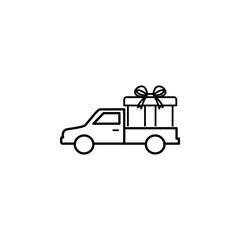 gift delivery outline icon. Element of logistic icon for mobile concept and web apps. Thin line gift delivery outline icon can be used for web and mobile