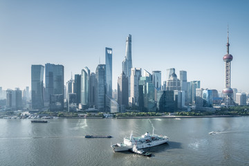 Wall Mural - beautiful shanghai cityscape in morning