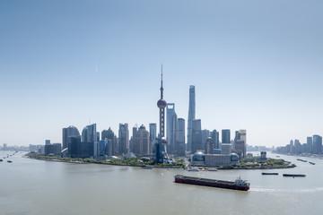 Fotobehang - beautiful shanghai cityscape