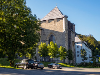 Royal Collegiate Church and pilgrim hostel - Roncesvalles, Navarre, Spain