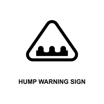 hump warning sign icon. Element of railway signs for mobile concept and web apps. Detailed hump warning sign icon can be used for web and mobile. Premium icon