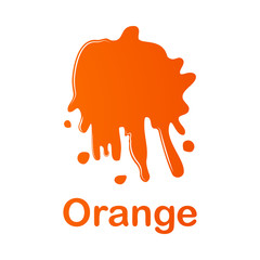 orange splash illustration. Element of colored splash for mobile concept and web apps. Detailed orange illustration can be used for web and mobile. Premium icon