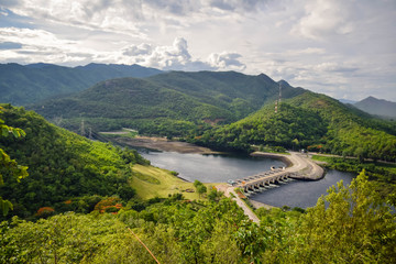 Electric power plant, bhumibol dam in Tak province, Thailand