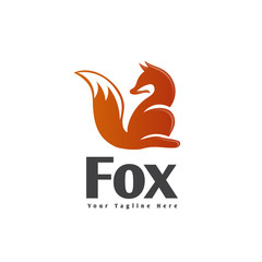 Sitting fox logo