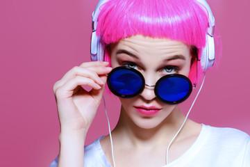 Photo sur Plexiglas Magasin de musique round fashionable glasses