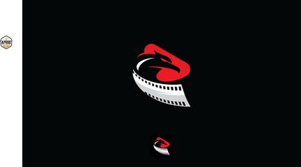 eagle cinema and play logo vector