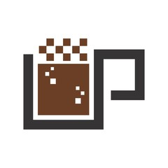 coffee logo. cafe icon. hot drink symbol. vector eps 08.
